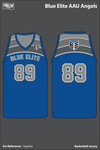Blue Elite Angels Men's Reversible Basketball Jersey - csDGsC - YqqhAa
