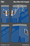 Blue Elite Angels Men's Reversible Basketball Shorts - GXxxqP - FQgVkJ