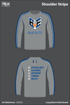 Blue Elite Angels Men's Long-Sleeve Performance Shirt - xVGEX2