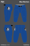 Blue Warriors Football Pants - Ar7rdm