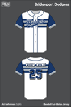 Bridgeport Dodgers Full Button Baseball Jersey - 5JjXtS