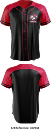 Brooke Point High School Cheer Full Button Baseball Jersey -hqPssE