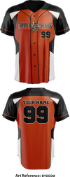 Carolina Copperheads Full Button Baseball Jersey - bYdccm