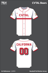California Varsity Taekwondo Athletic League Full Button Baseball Jersey - CyfMES