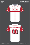 California Varsity Taekwondo Athletic League Full Button Baseball Jersey - GYr3Sx