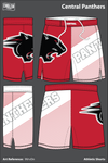 Central Panthers Football Athletic Shorts - 9VrvDn