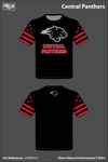 Central Panthers Football Short-Sleeve Performance Shirt - ZWRMmV