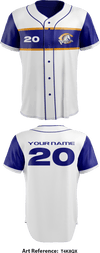 Chillicothe 757 Colts Baseball Program Full Button Baseball Jersey - T4K8QX