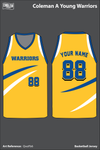 Coleman A. Young Warriors Men's Basketball Jersey - QwzFb6