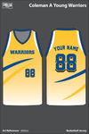 Coleman A. Young Warriors Men's Basketball Jersey - xbbbuL