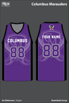 Columbus Marauders Basketball Jersey - Pejpbe