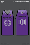 Columbus Marauders Basketball Jersey - xCpCtj