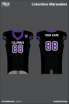 Columbus Marauders Uniforms: Football Jersey - 2yyYv7