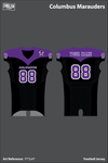 Columbus Marauders Uniforms: Football Jersey - PTTpAT