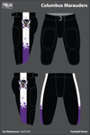 Columbus Marauders Uniforms: Football Pants - KG4TUW