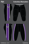 Columbus Marauders Uniforms: Football Pants - njhghH