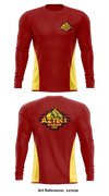 El dorado color guard Long-Sleeve Performance Shirt - XATks9