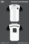 Everyone Love Someone Full Button Baseball Jersey - QtVEUx