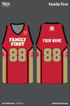Family First Men's Basketball Jersey - UPPq5m
