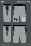 Georgetown Prep Compression Shorts - j387KR