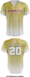 Glad1ators Baseball Club Full Button Baseball Jersey - rSw2bQ