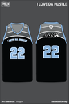 I LOVE DA HUSTLE Men's Basketball Jersey - XRHgUN