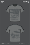 Iron Flag Athletic Performance Short Sleeve Rash Guard - YcLtN3