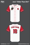 Joe's Older Than Dirt Full Button Softball Jersey - d7kGKf