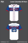 Lower Columbia Allstars Full Button Baseball Jersey - f2ABLS