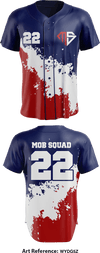MOB Squad - Full Button Baseball Jersey - Wydg5z