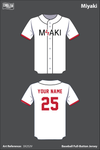 MIYAKI Full Button Baseball Jersey - 3X252V