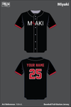 MIYAKI Full Button Baseball Jersey - RJ8nJL