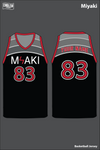 MIYAKI Men's Basketball Jersey - XEQt7v