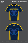 Motor City Wolverines Short Sleeve Compression Shirt - 7VVw3z