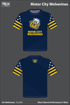 Motor City Wolverines Short Sleeve Compression Shirt - ELUtD8
