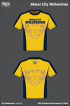 Motor City Wolverines Short Sleeve Compression Shirt - xybUxz