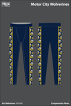 Motor City Wolverines Compression Leggings - KADntf