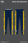 Motor City Wolverines Compression Leggings - L2j6K4