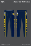 Motor City Wolverines Compression Leggings - bpyYRn