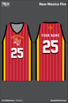 New Mexico Fire Men's Reversible Basketball Jersey - 8NX2bN & DHtawZ