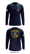 North Sioux City Police Department Store 1 - Long-Sleeve Hybrid Performance Shirt - tervsG
