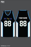 North Carolina Sports Association Men's Basketball Jersey - JtKGaM