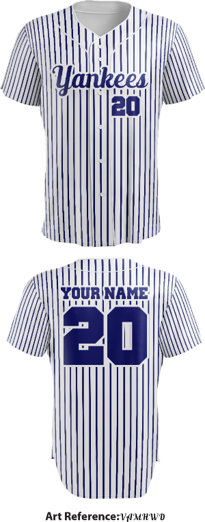 sports shoes c9ef0 29e4d North East Yankees Full Button Baseball Jersey - VAMHwD