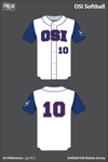 OSI Softball Full Button Softball Jersey - qg24C2