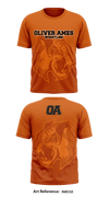 Oliver Ames Tigers1 Short Sleeve Rash Guard - x6Ec52