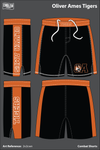 Oliver Ames Tigers Heavy Fight Shorts - 2v2cwn
