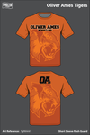 Oliver Ames Tigers Short Sleeve Rash Guard - 7qNVmV