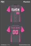 Phantom Softball Full Button Jersey - V778rF