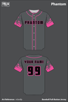 Phantom Softball Full Button Jersey - mSwtfp