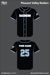 Pleasant Valley Raiders Full Button Baseball Jersey - CpWsJ6